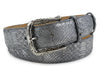 Gunmetal Genuine Python Filigree Belt