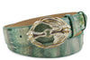Palm Tree Genuine Python Horses Belt