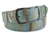 Beachside Blue Genuine Python Belt