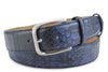 Wet Ink Genuine Python Etched Belt