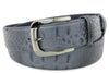 Charcoal Grey Mock Croc Gunmetal Belt