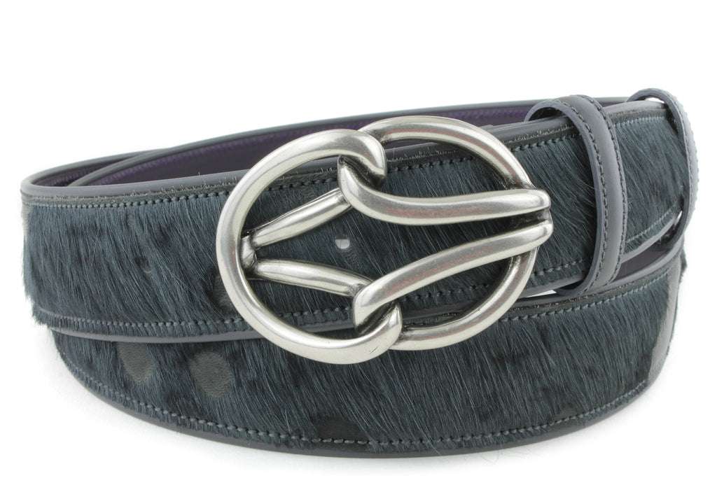 Anthracite Burn Out Pony Reef Belt