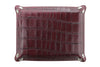 Burgundy mock crocodile occasional tray