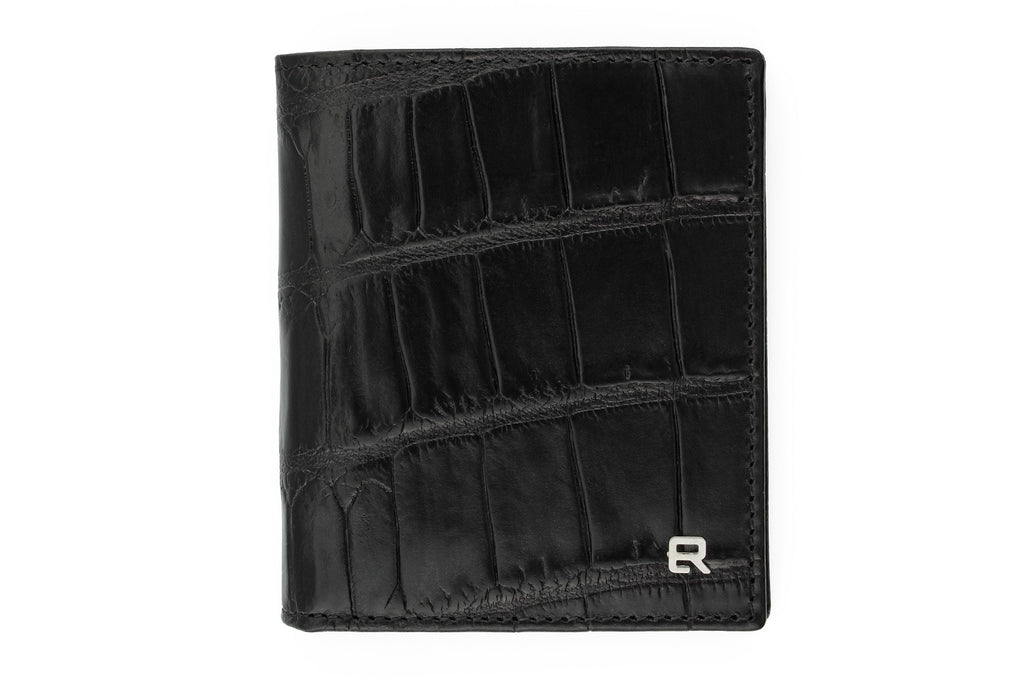 Black mock crocodile Holland Park wallet