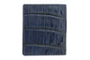 Navy mock crocodile Holland Park wallet