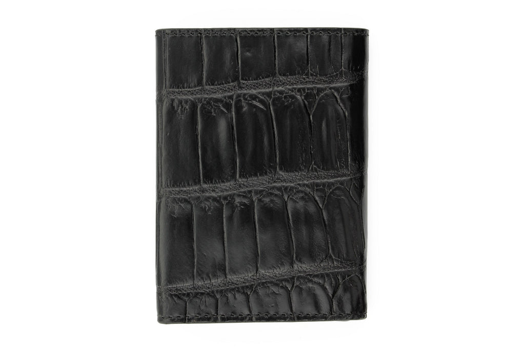 Black mock crocodile Chelsea card holder