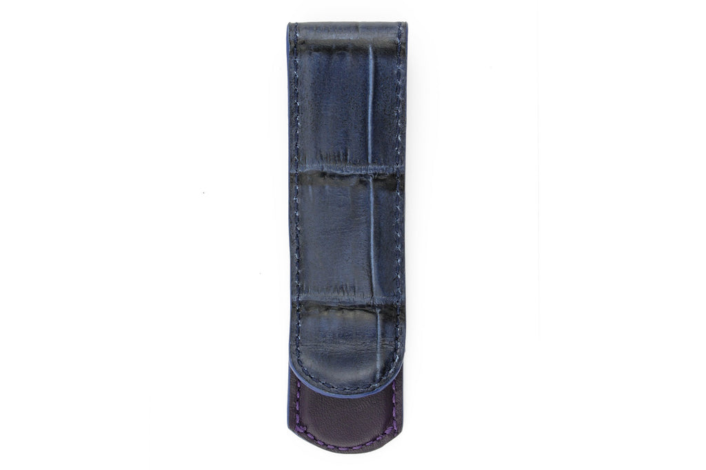 Navy blue mock crocodile desk clip