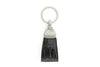 Black mock crocodile Triangle keychain