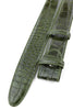 Olive Green Burnished Mock Croc Belt Strap