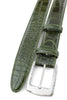 Olive Green Burnished Mock Croc Belt