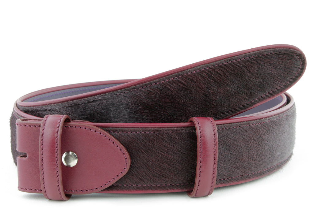Pomegranate Pony Hair Belt Strap