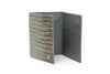 Slate grey mock lizard Chelsea card holder