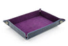 Navy blue mock crocodile occasional tray