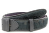 Anthracite Burn Out Pony Hair Belt Strap