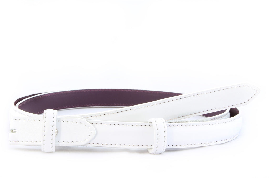 Optic White napa feel belt strap