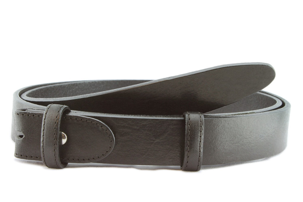 Black chunky narrow belt strap