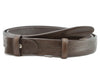 Dark brown chunky narrow belt strap