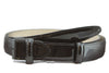 Black narrow patent leather belt strap