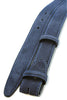 Navy blue narrow suede belt strap