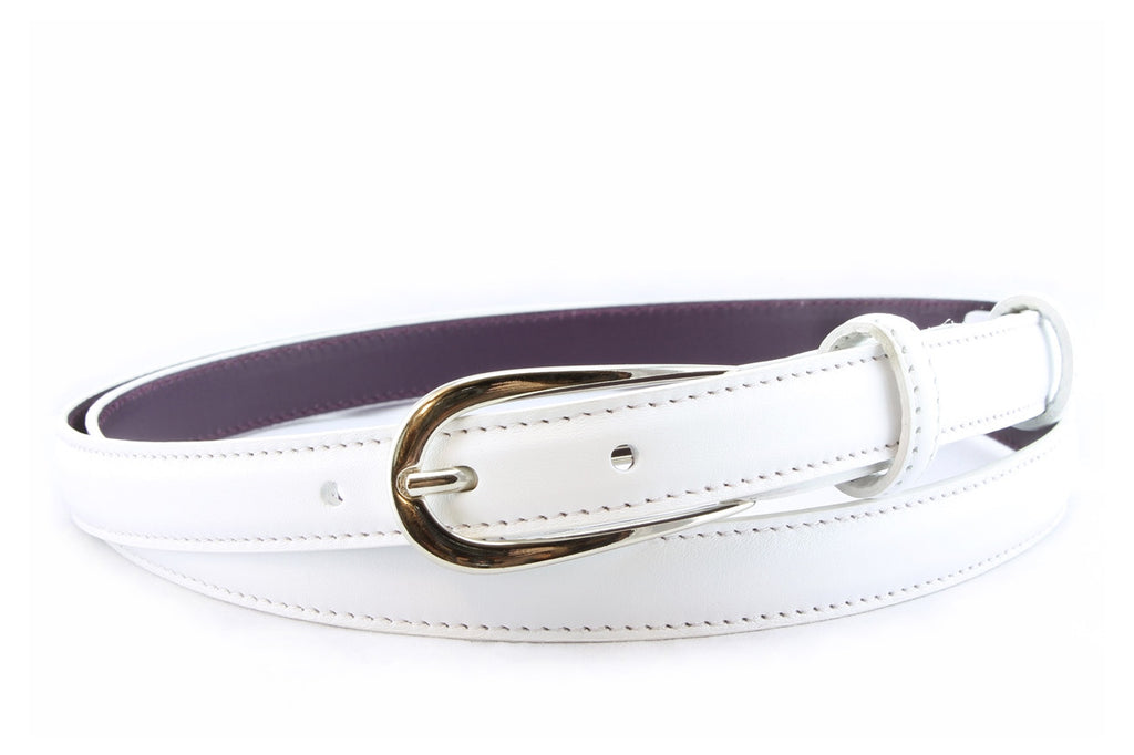Optic White napa feel belt