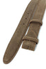 Chocolate brown suede belt strap