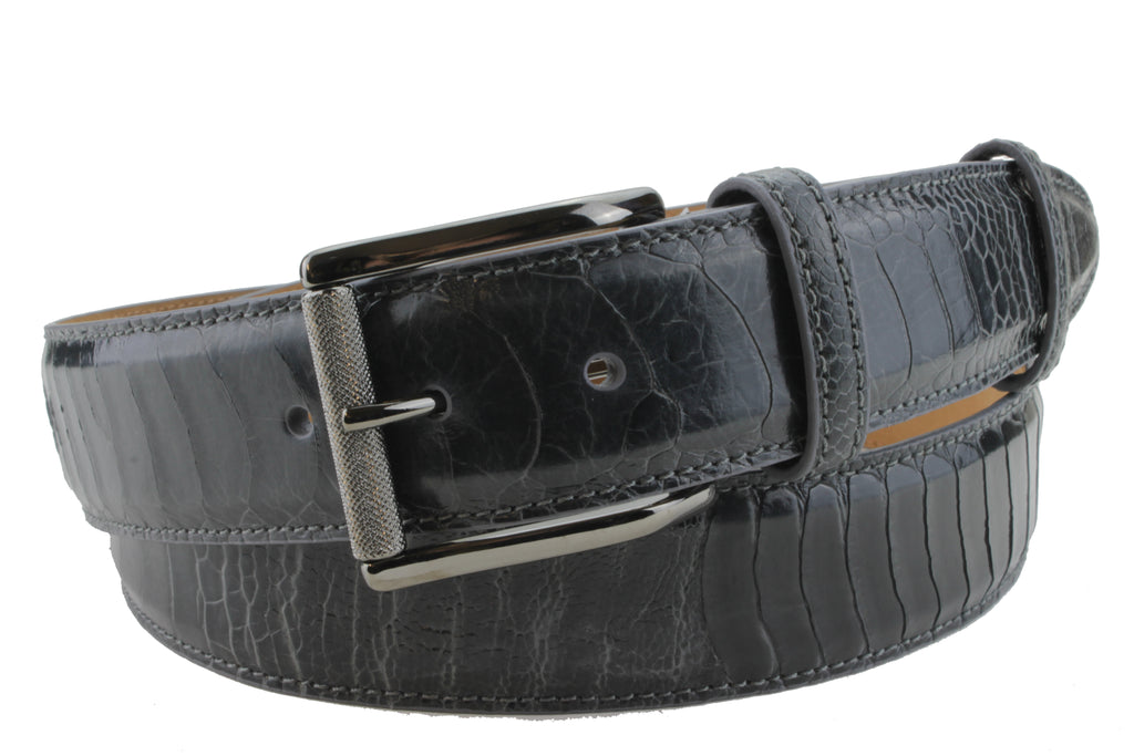 Anthracite Grey Genuine Ostrich Belt