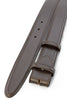 Dark brown saffiano leather belt strap