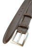 Dark brown box calf belt