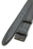 Black mock crocodile belt strap