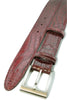Burgundy mock crocodile belt