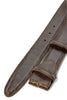 Dark brown lizard effect belt strap