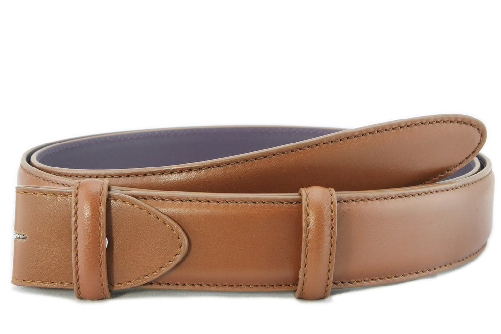 Chestnut brown box calf belt strap