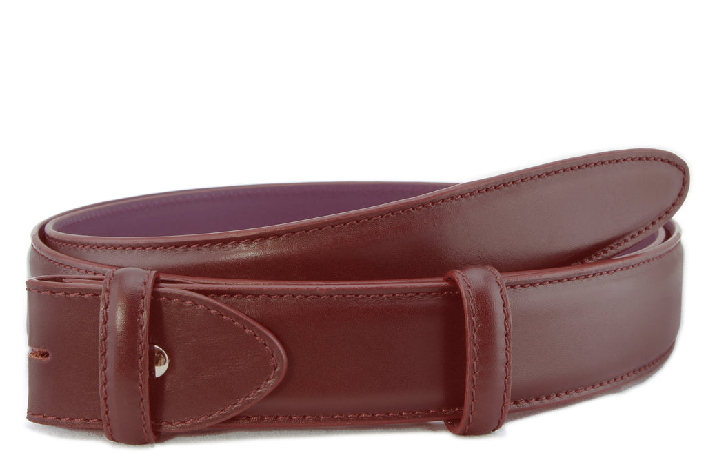 Oxblood box calf belt strap