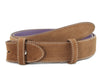 Tan suede belt strap
