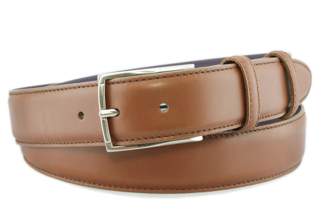 Chestnut brown box calf belt