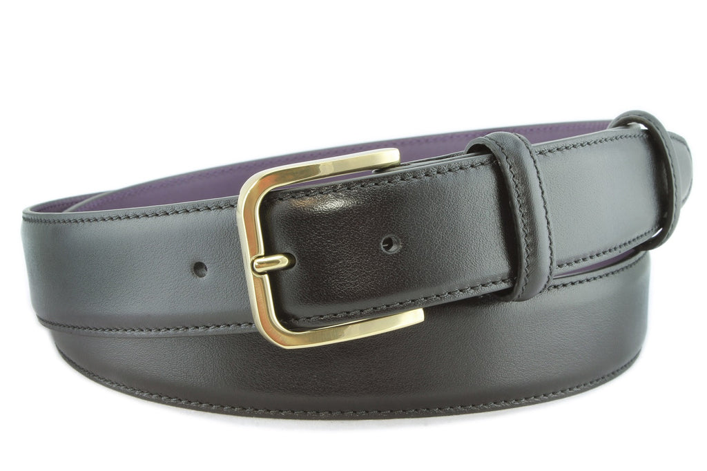 Black nappa feel belt