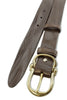 Dark brown chunky narrow hinged buckle belt