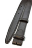 Black saffiano leather narrow belt strap