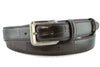 Black narrow mock alligator tail belt