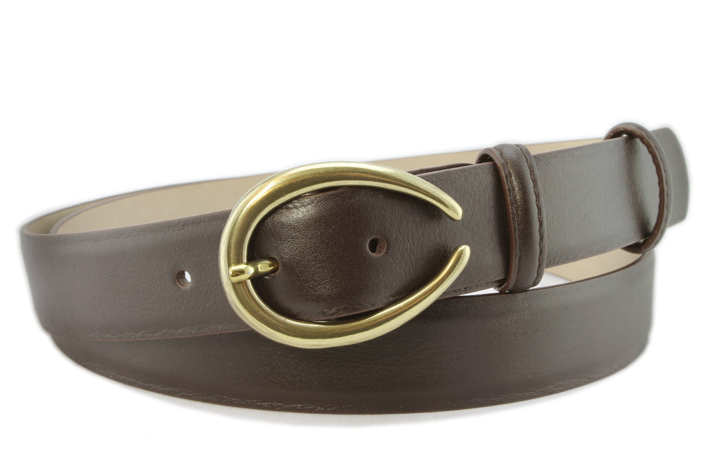 Dark brown napa soft feel narrow belt
