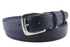 Navy Imitation Leather Mottled Flange Prong Belt