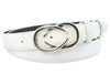 Optic white napa feel narrow belt