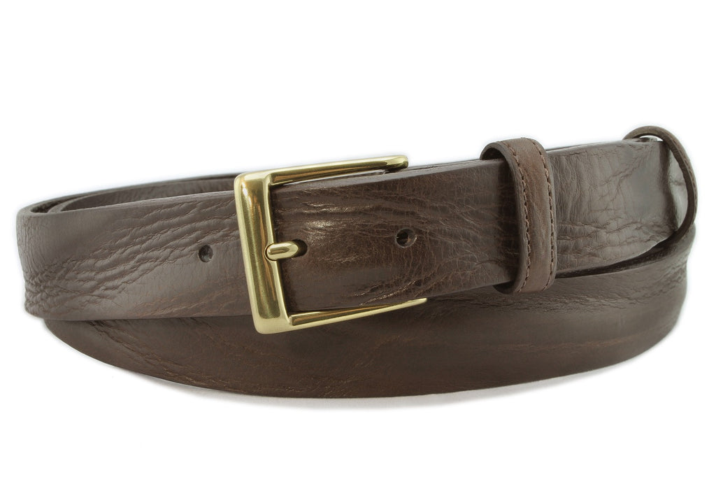 Dark brown chunky narrow belt