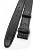 Black teyus lizard effect belt strap