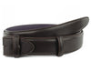 Dark brown box calf belt strap