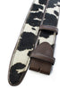 Cream brown mix cowhide belt strap