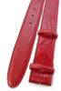 Red mock crocodile belt strap