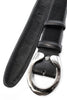 Black pony hair horseshoe belt