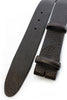 Rich brown tumbled leather belt strap