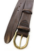 Rich brown vintage feel belt with gold buckle